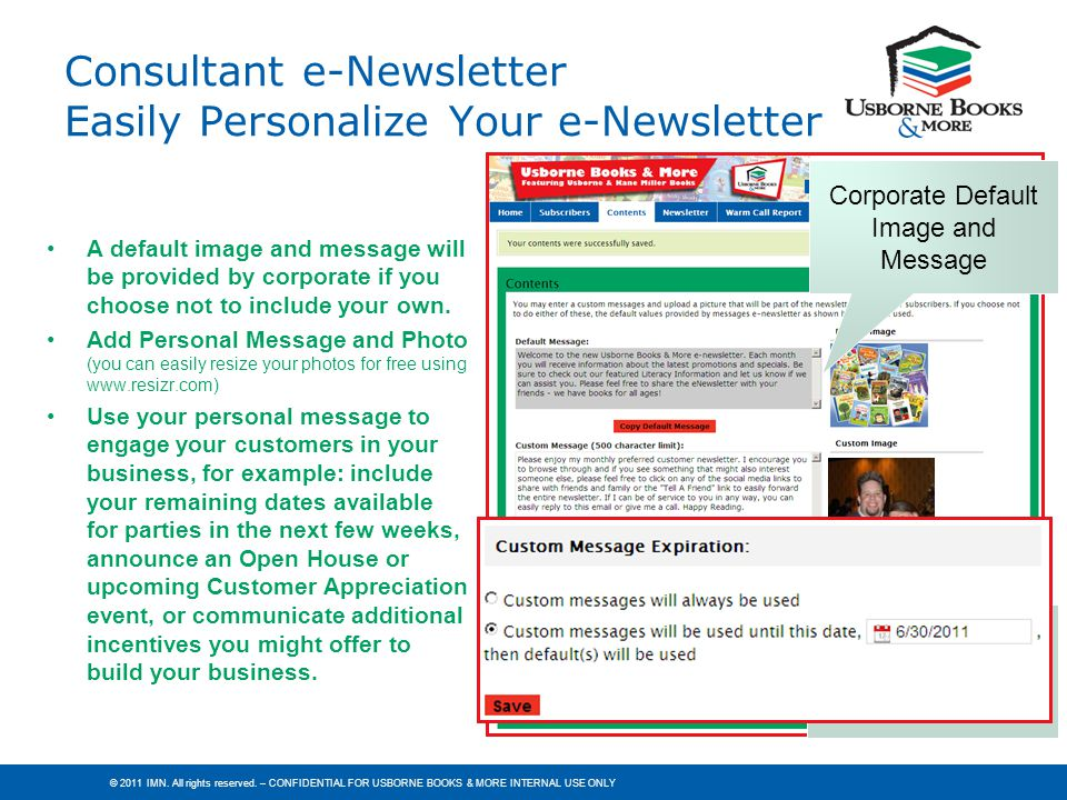 Consultant e-Newsletter Easily Personalize Your e-Newsletter
