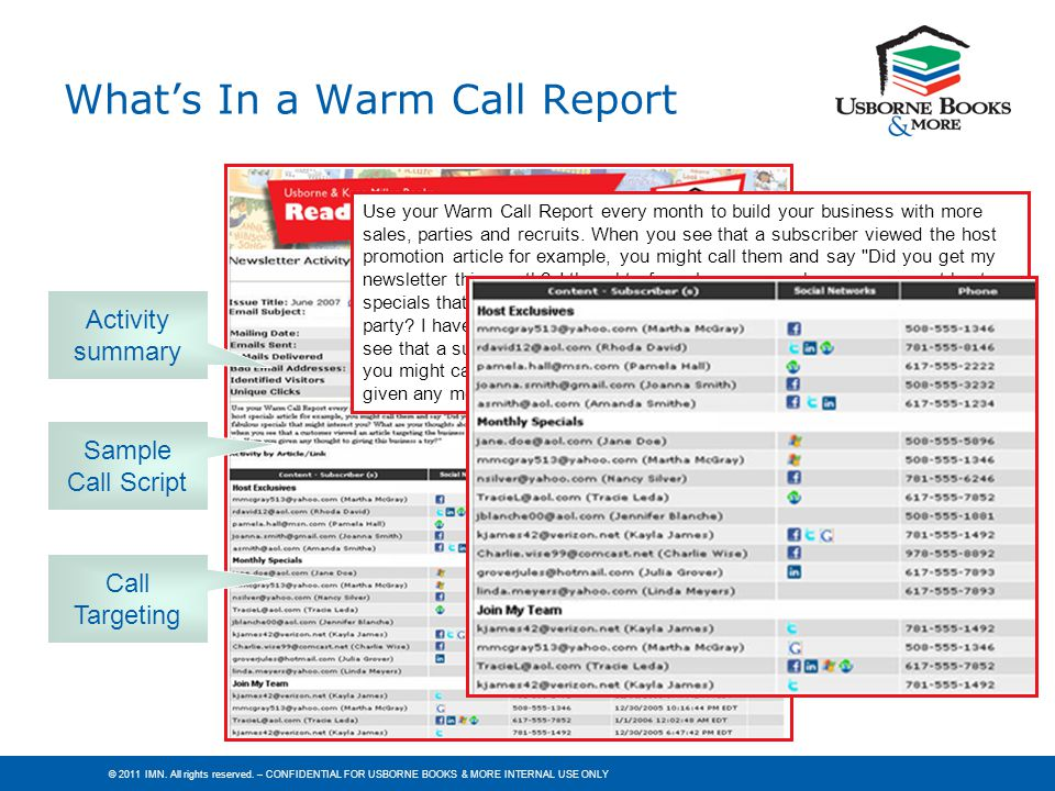 What's In a Warm Call Report