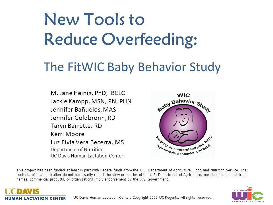 New Tools to Reduce Overfeeding: