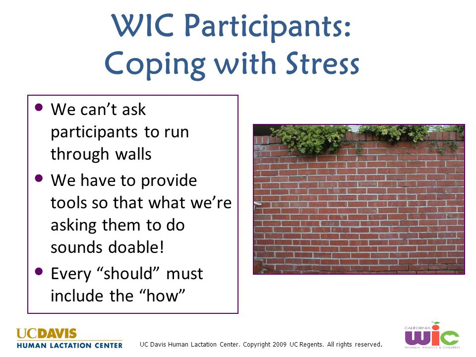 WIC Participants: Coping with Stress