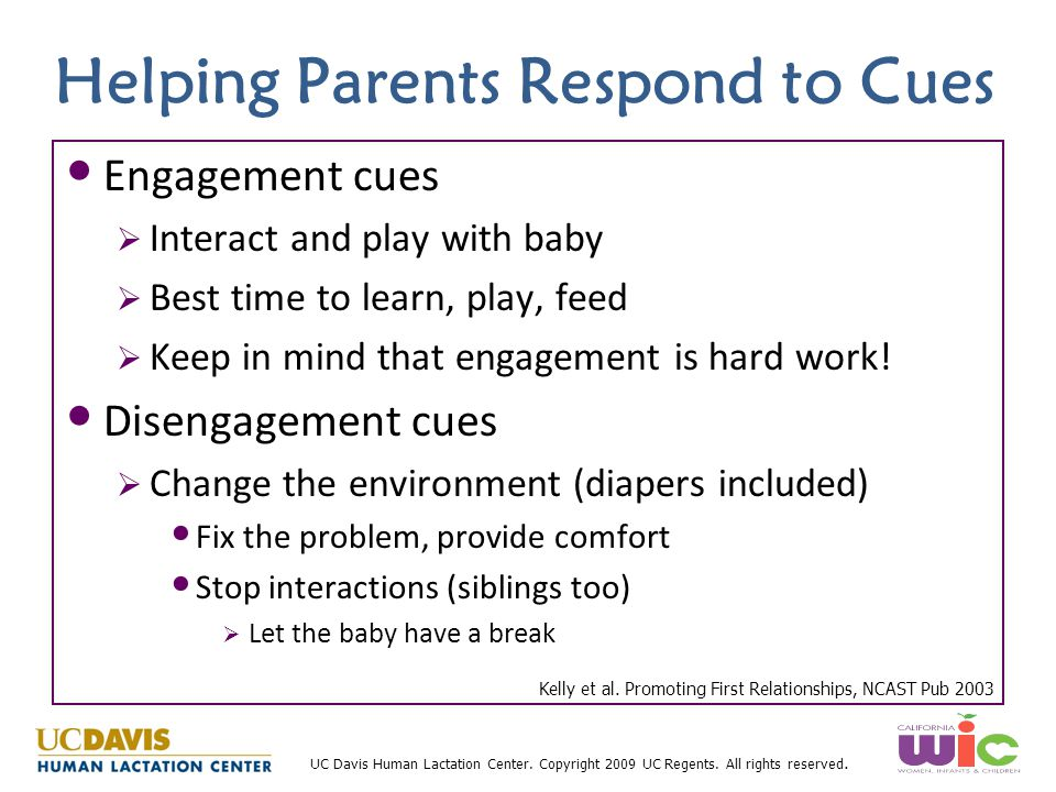 Helping Parents Respond to Cues