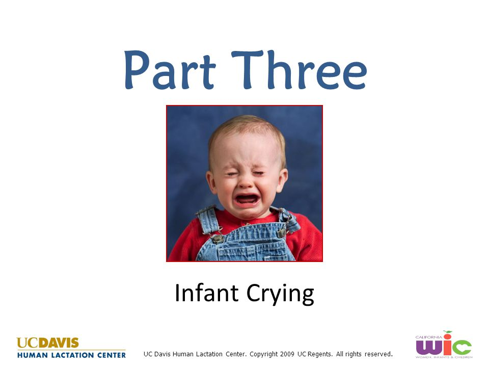 Part Three Infant Crying