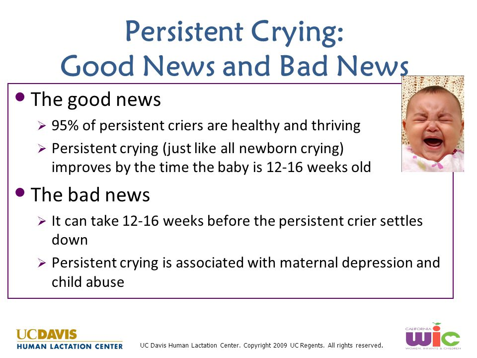 Persistent Crying: Good News and Bad News
