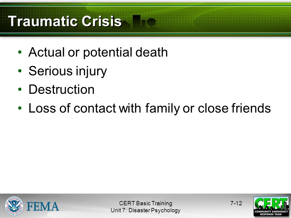 Effects of Traumatic Stress