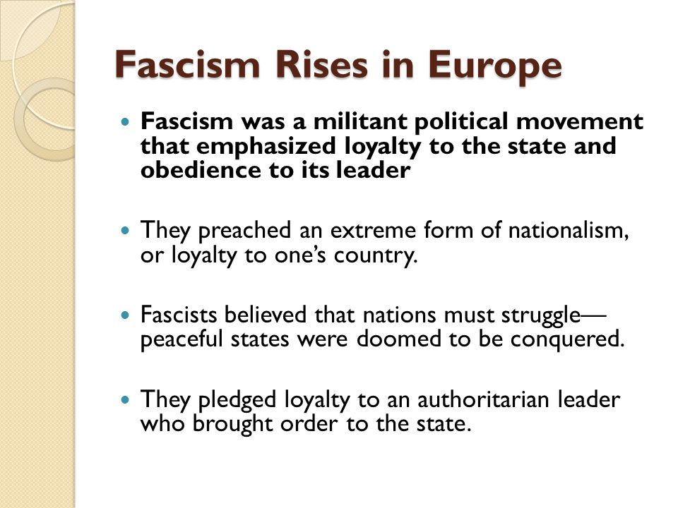 fascism rises in europe ppt download rh slideplayer com 15.3 fascism rises in europe guided reading guided reading fascism rises in europe cause and effect
