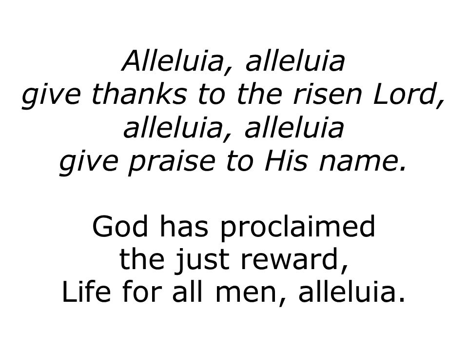 Lyric risen lyrics : 3rd Order of Holy Communion Page 167 Easter Day. - ppt video ...