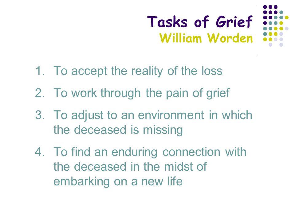 worden stages of grief