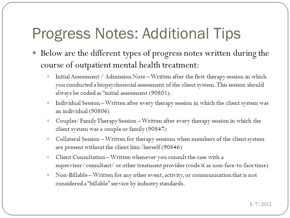 Writing Progress Notes Ppt Video Online Download