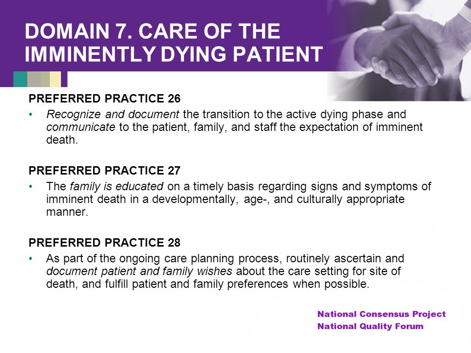 The National Quality Forum's Framework for Hospice and