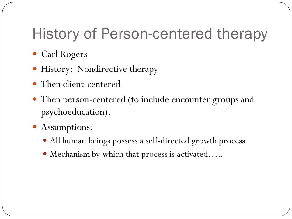 example of client centered therapy dialogue