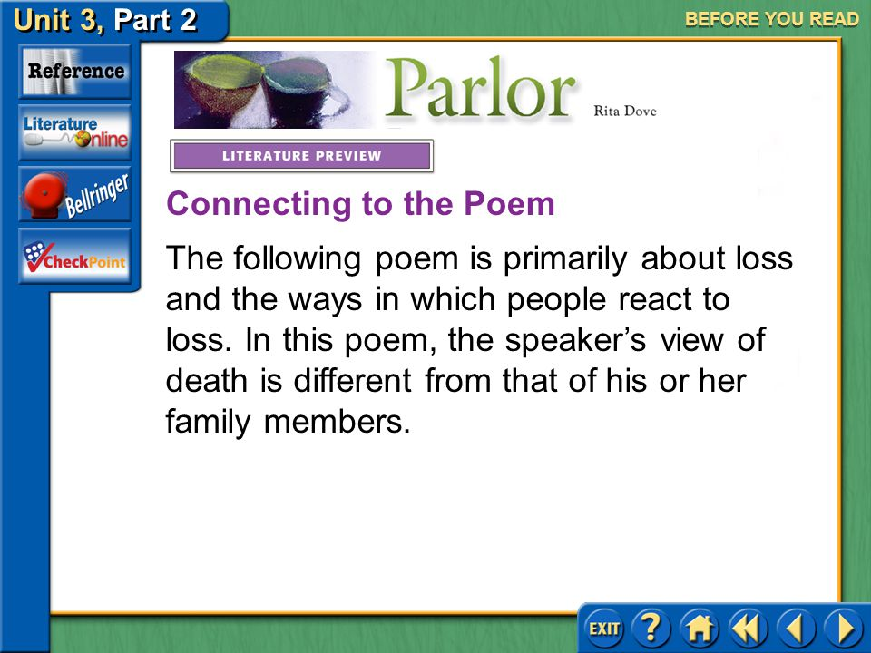 Click The Mouse Button Or Press The Space Bar To Continue Ppt Download Fascinating Loss Of A Family Member Poem