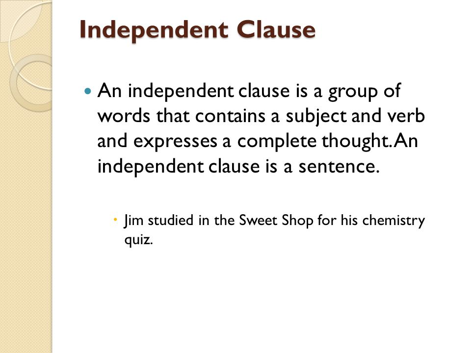 Independent Clause