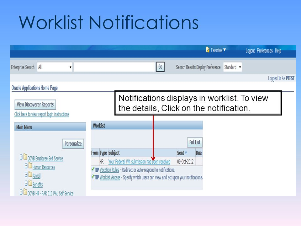 Worklist Notifications