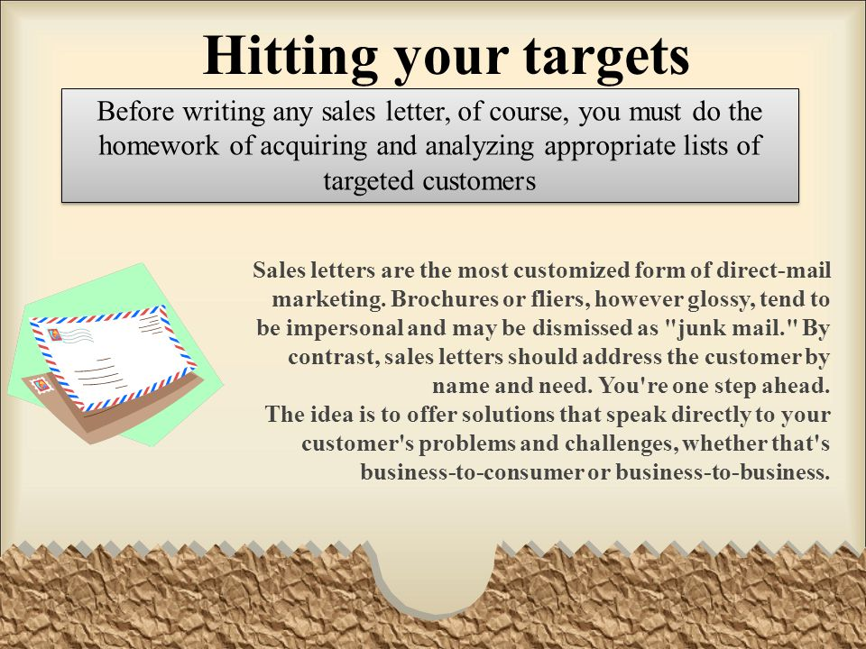 Sales Letters Ppt Video Online Download