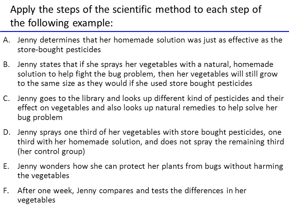 Step by step introduction to scientific methods for juniors.