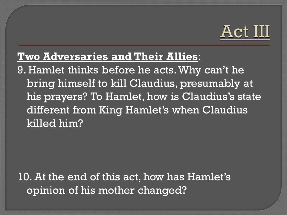 does hamlet kill claudius