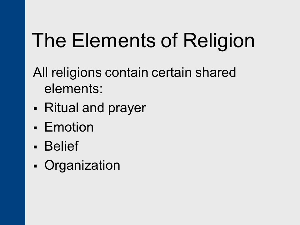 The Elements Of Religion