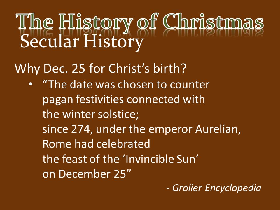 the history of christmas