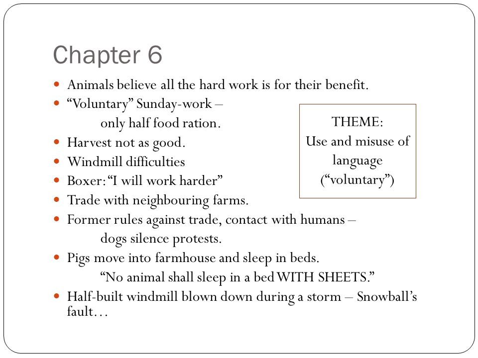 animal farm chapter 7 quotes
