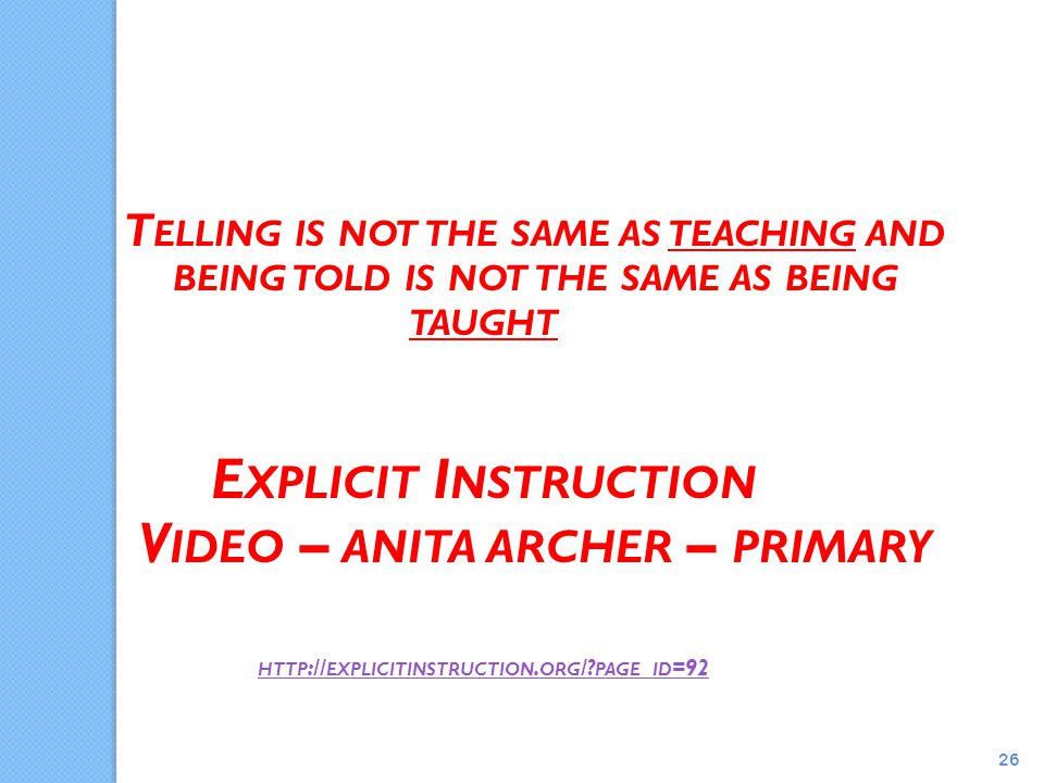 Explicit Instruction An Overview Ppt Download