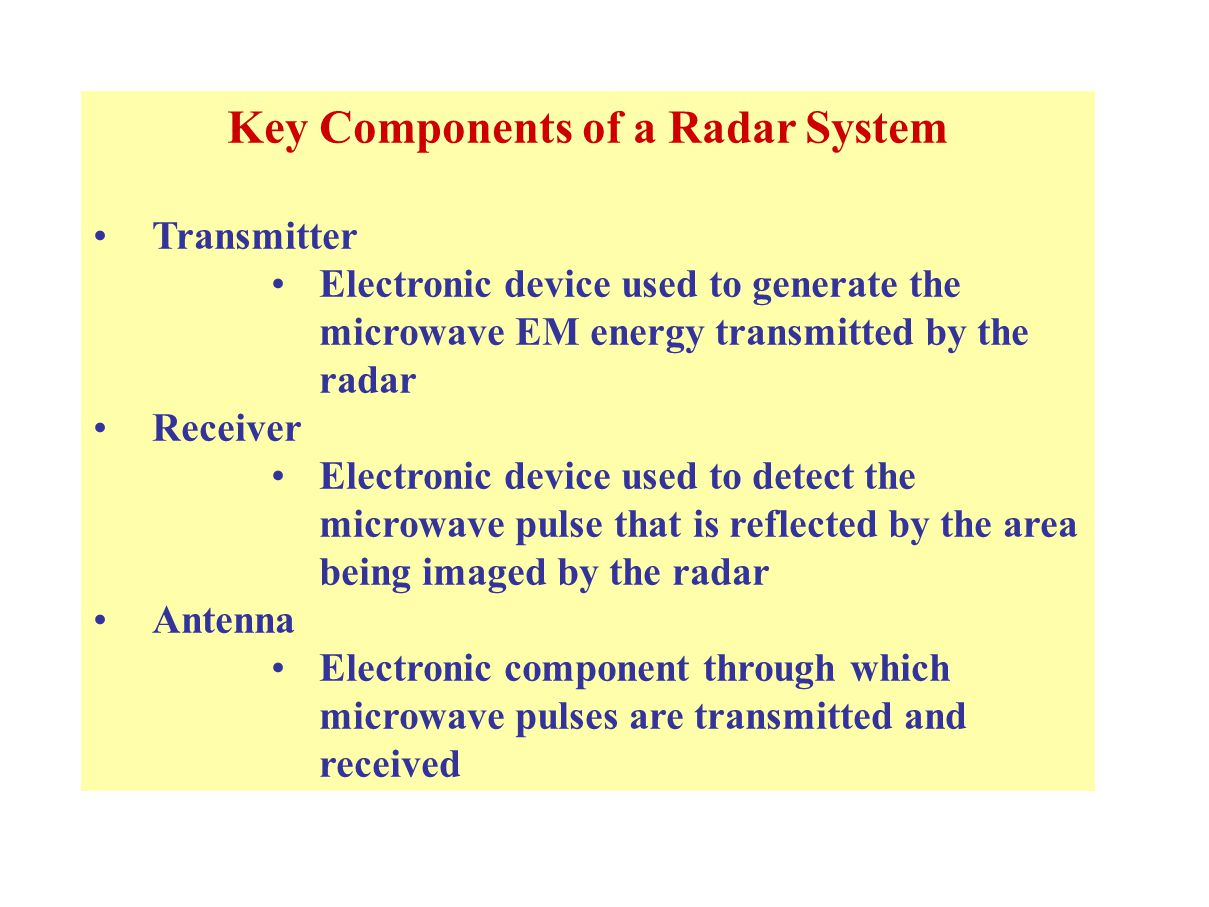 Simplified Radar Block Diagram Ppt Download Transmitter And Rf Systems Key Components Of A System