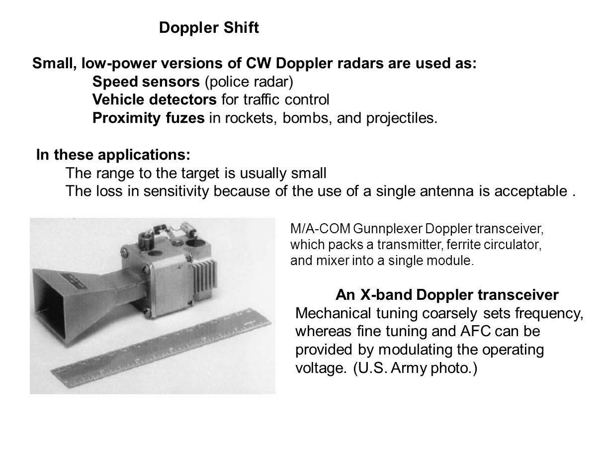An X-band Doppler transceiver