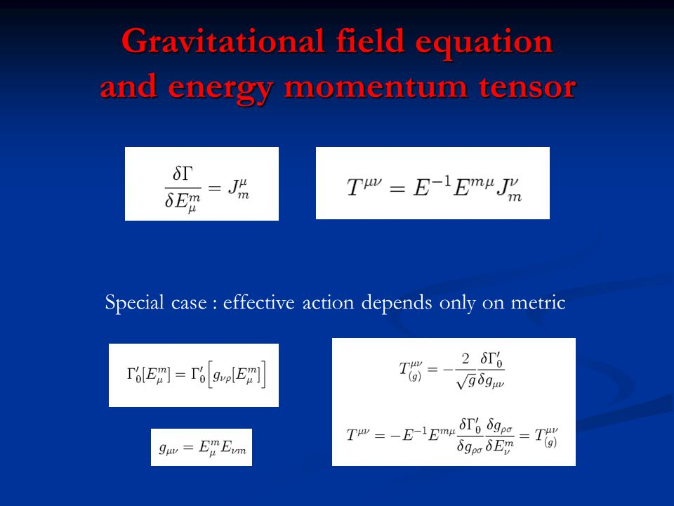 Gravitational field equation and energy momentum tensor