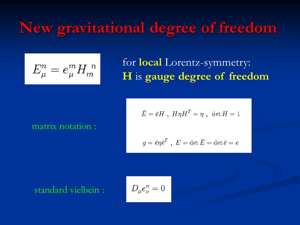 New gravitational degree of freedom