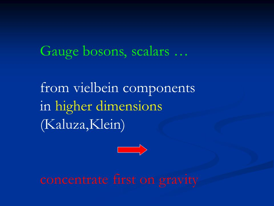 Gauge bosons, scalars … from vielbein components. in higher dimensions.