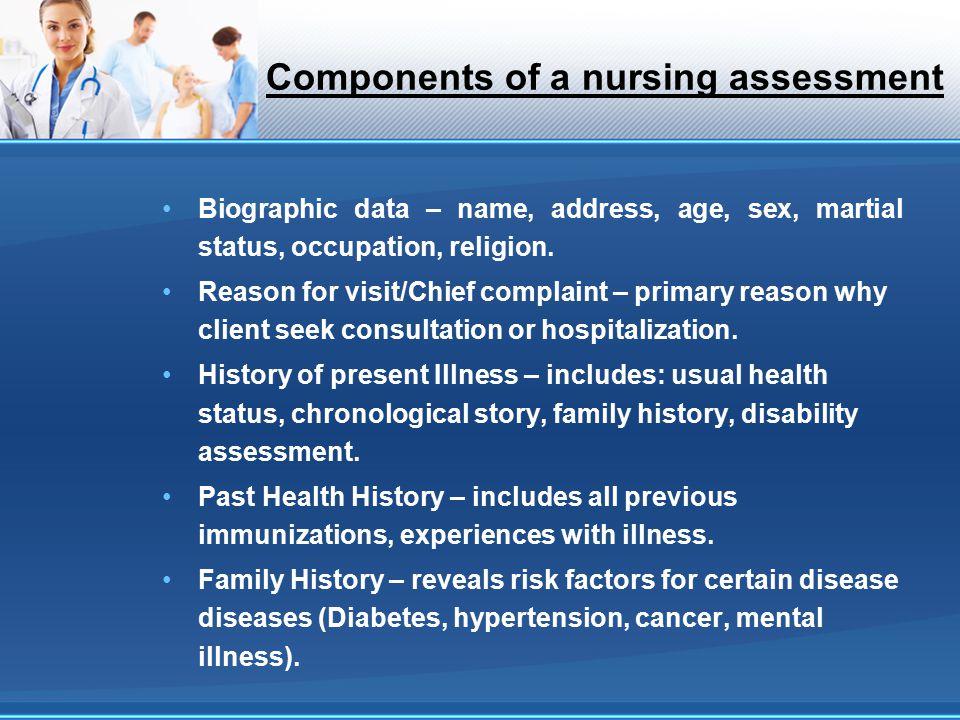Components Of A Nursingessment
