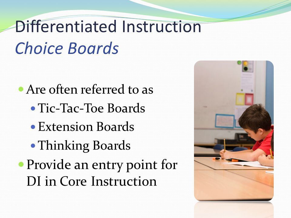 Differentiated Instruction Choice Boards Ppt Download