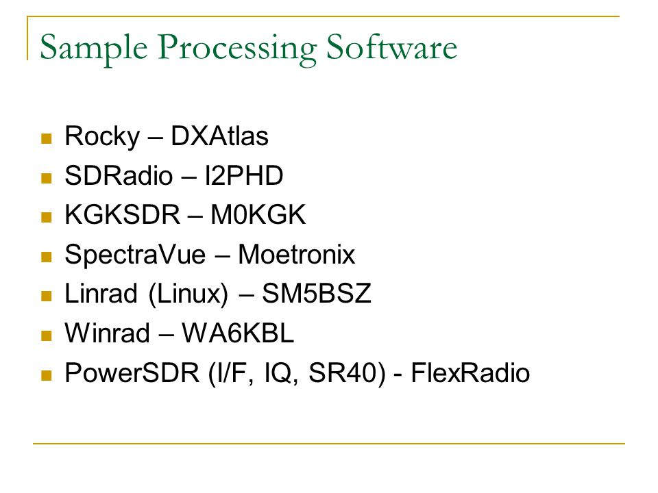 SDR Software Defined Radios - ppt download