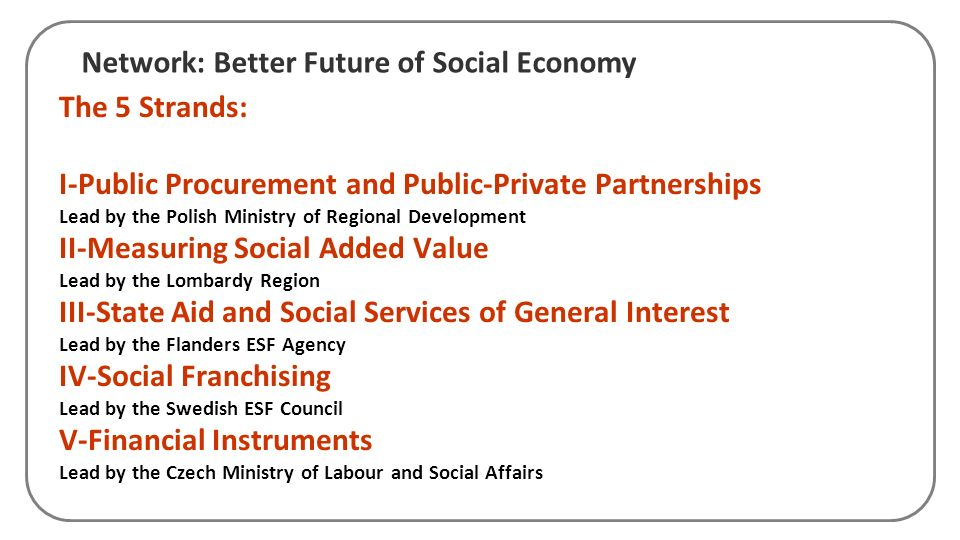Network: Better Future of Social Economy
