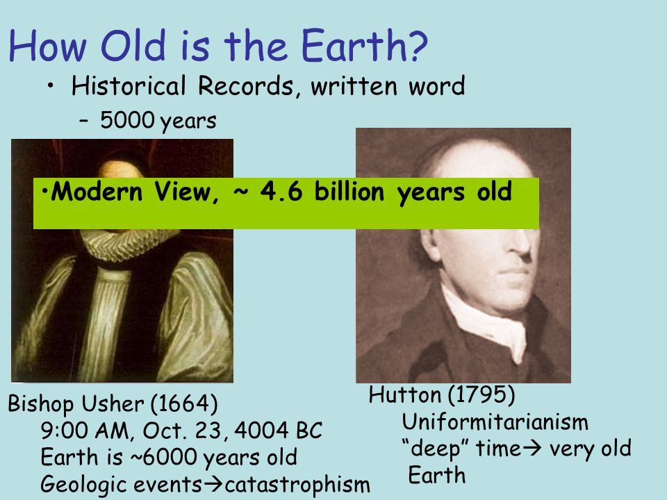 How Old Is The Earth Historical Records Written Word