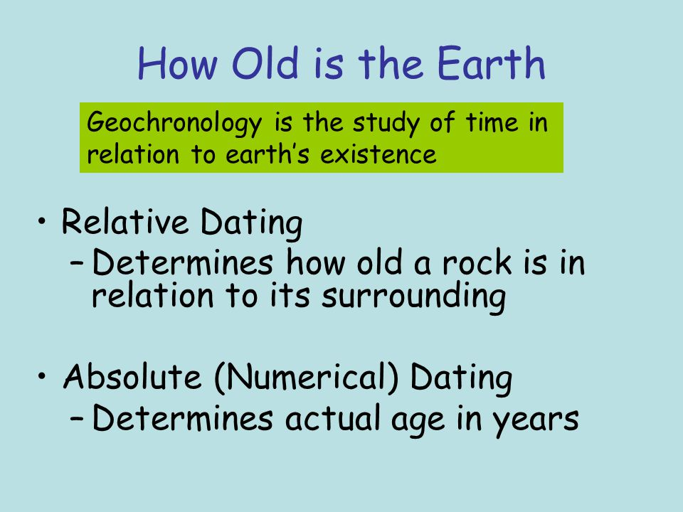summarize the distinction between relative dating and absolute dating