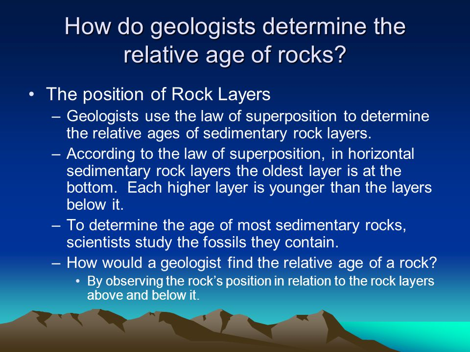 Finding The Relative Age Of Rocks Ppt Video Online Download