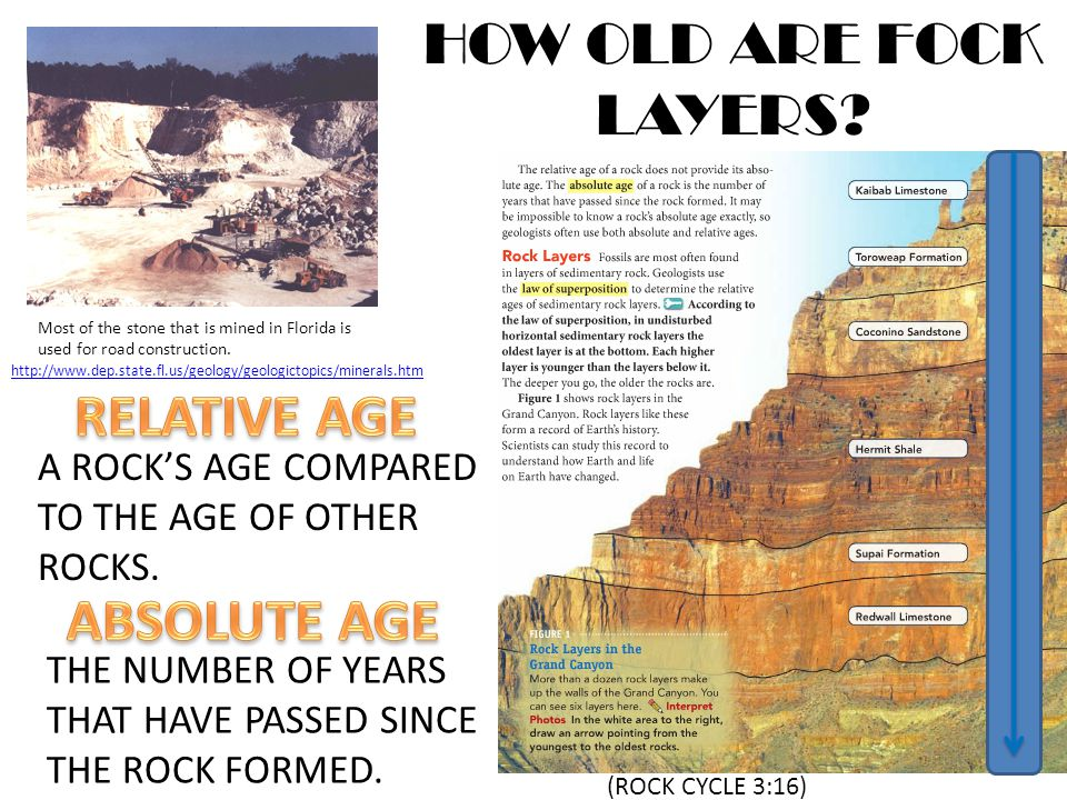 Of worksheet rocks age relative The Relative