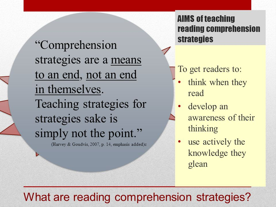 AIMS Of Teaching Reading Comprehension Strategies