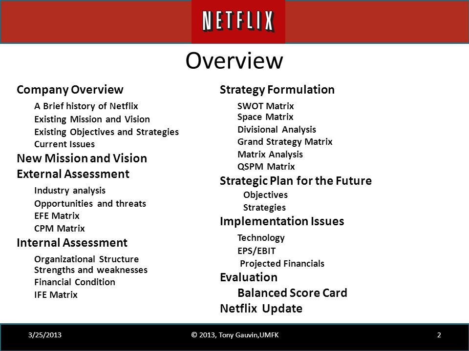 overview company overview a brief history of netflix