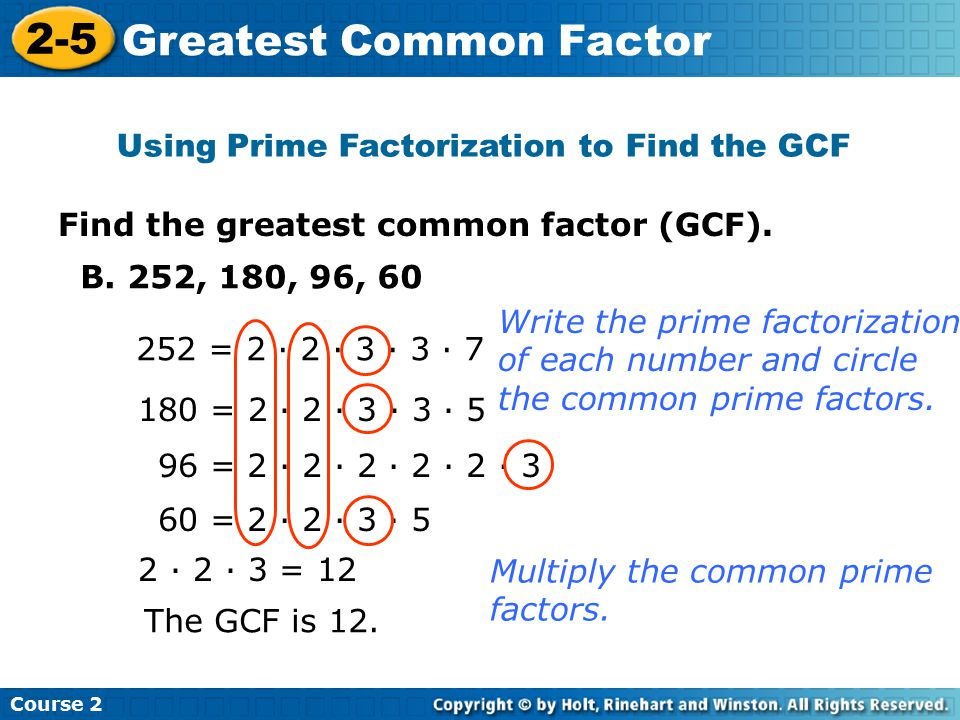 808 Gcf Lcm Using Prime Factors 19 Ppt Video Online Download. Using Prime Factorization To Find The Gcf. Worksheet. Gcf And Lcm Worksheet Doc At Clickcart.co