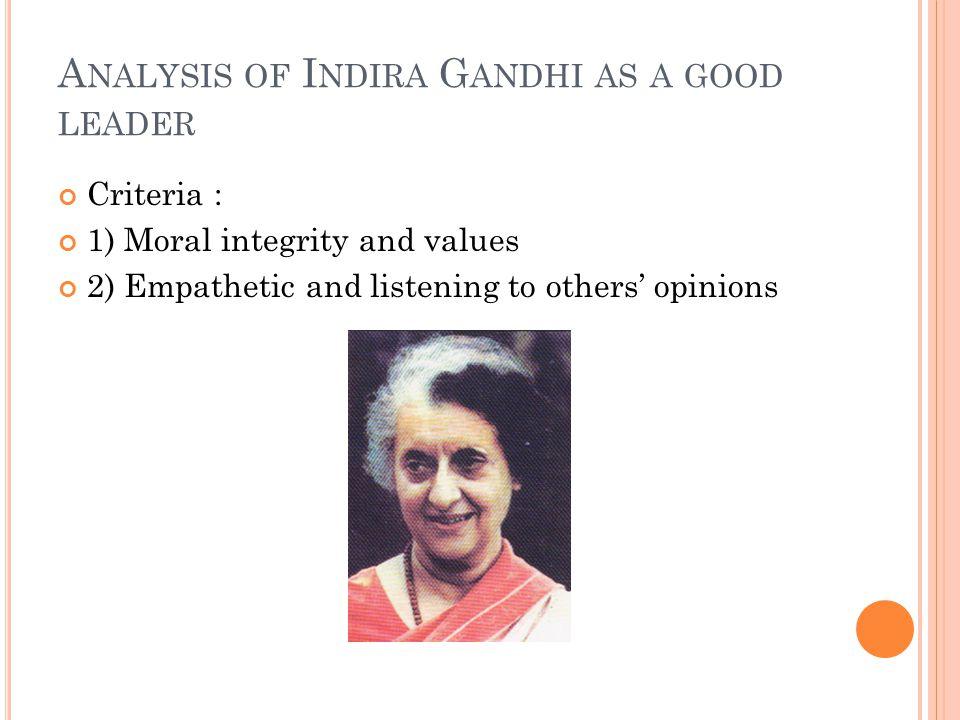indira gandhi leadership qualities