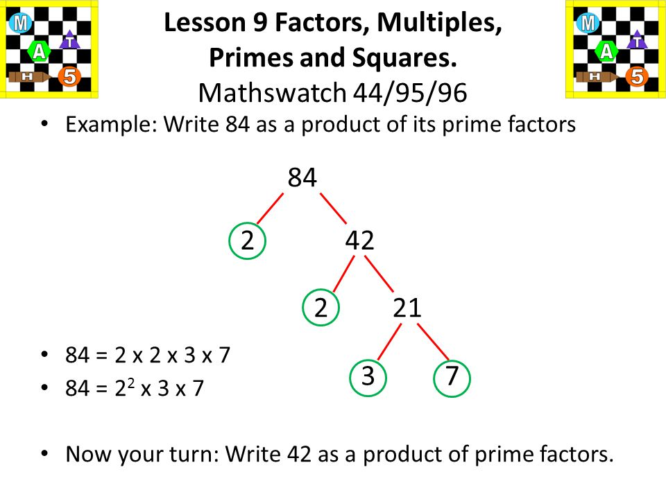 how to find factors of 84