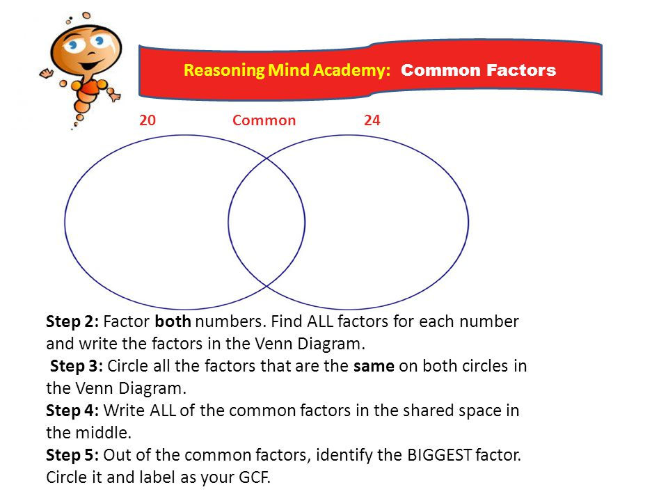 Common factors identify common factors of a set of whole numbers reasoning mind academy common factors ccuart Image collections
