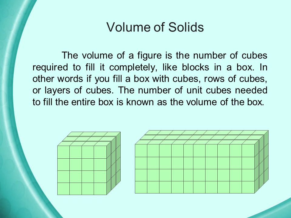 Volume of Solids