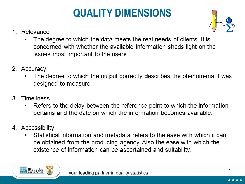 QUALITY DIMENSIONS Relevance