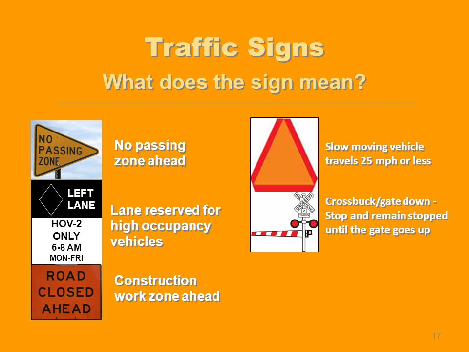 Traffic Controls Lesson 1 Understanding Traffic Signs And Signals