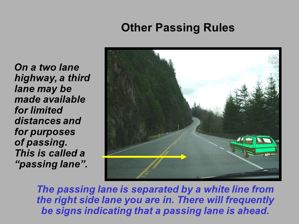 Other Passing Rules