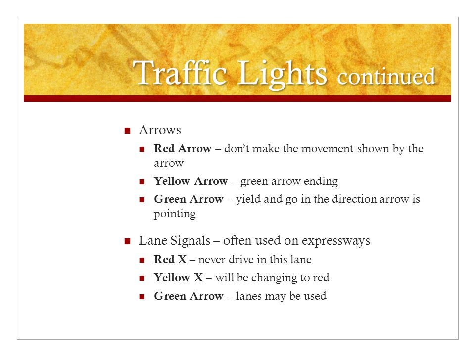 Traffic Lights continued
