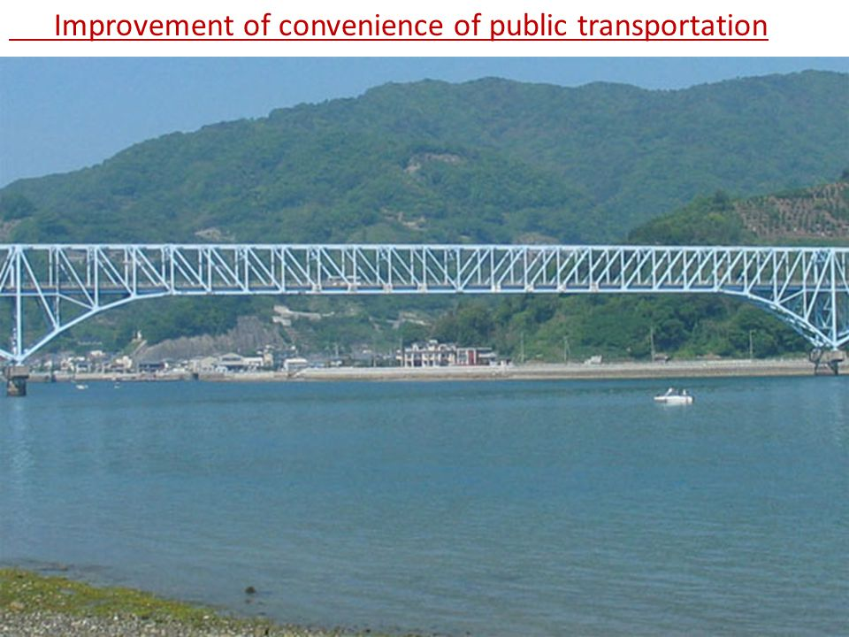 Improvement of convenience of public transportation