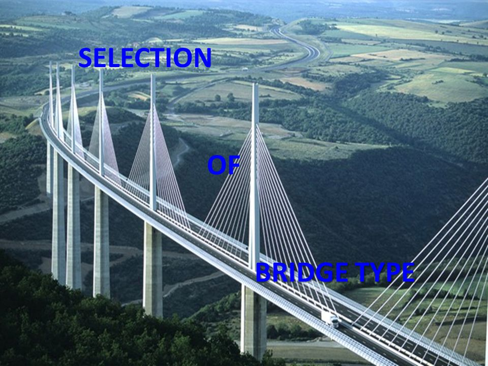 SELECTION OF BRIDGE TYPE